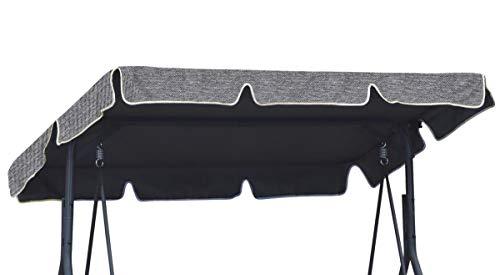 Ferocity Universal Techo Solar para balancín Toldo Fundas para balancines Toldo de Repuesto para Columpio de jardín tamaño 112 x 166 cm Lino [101]